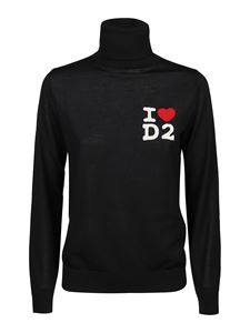Dsquared2 - Pullover I Love D2 nero