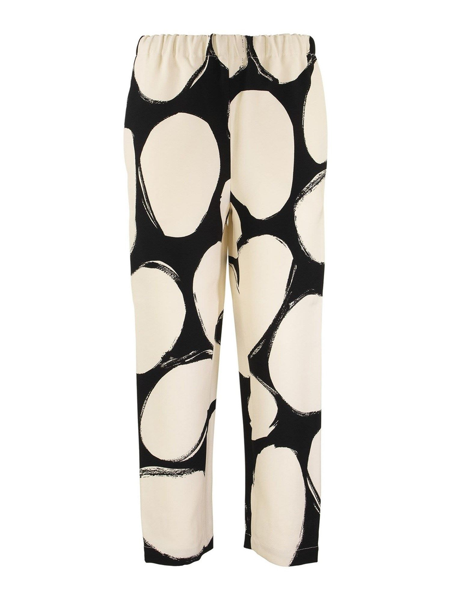 Marni PEBBLES PRINT CADY PANTS IN CREAM COLOR