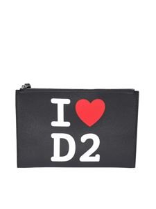 Dsquared2 - I Love D2 clutch in black