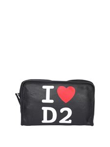Dsquared2 - Black beauty case with logo print