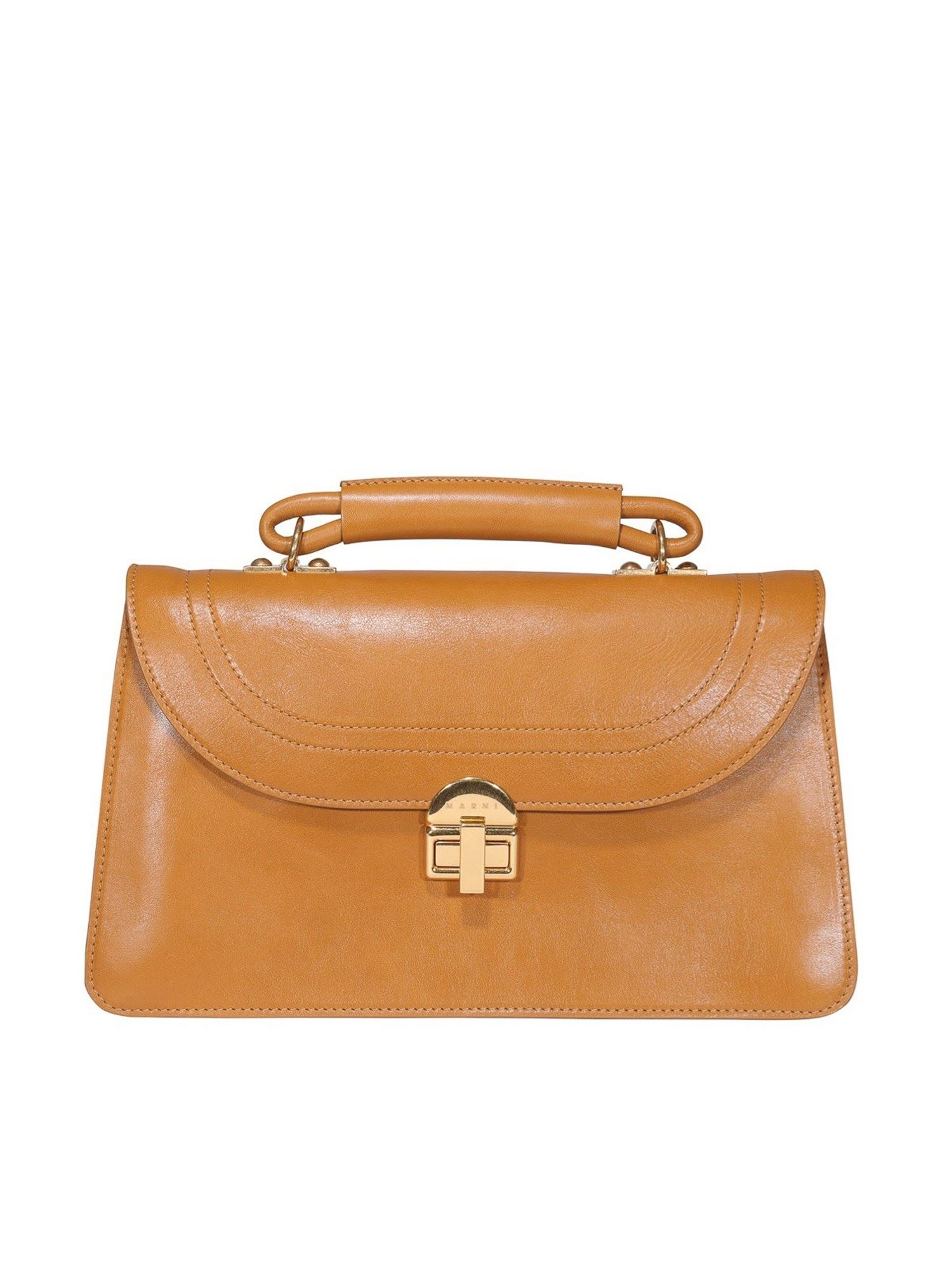 Marni Juliette Leather Bag In Mustard Color In Yellow