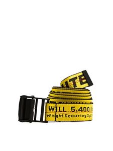 Off-White - Cintura Industrial gialla