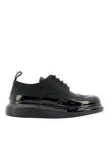 Alexander McQueen - Hybrid leather lace-up in black
