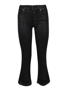 7 For All Mankind - Cropped Boot Unrolled jeans in black