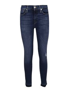 7 For All Mankind - The Skinny Crop Unrolled jeans in blue