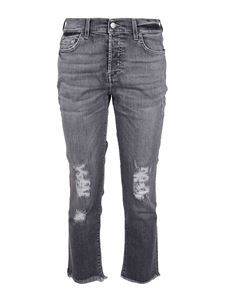 7 For All Mankind - Asher Soho cropped jeans in grey