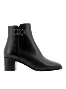 Salvatore Ferragamo - Cassaro black ankle boots in smooth leather