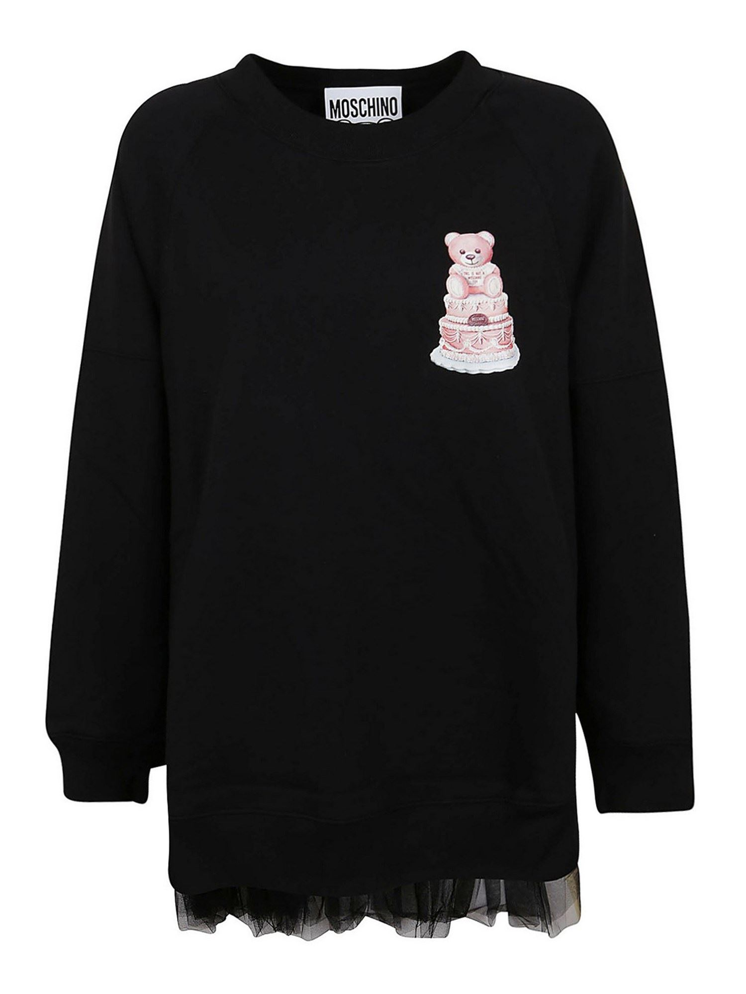 Moschino CAKE TEDDY BEAR LOGO SWEATSHIRT
