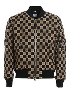 Burberry - Brookland Checkboard padded bomber jacket