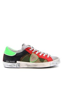 Philippe Model - Prsx multicolored camouflage sneakers