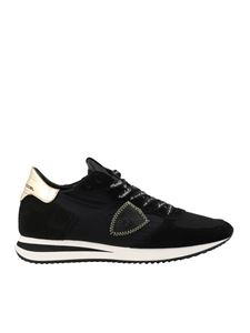 Philippe Model - Tropez X sneakers in black with laminated heel tab
