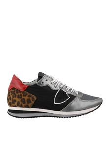Philippe Model - Tropez X multicolored sneakers with leopard rear