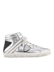 Philippe Model - Bike X Metal sneakers in silver color