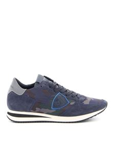 Philippe Model - Tropez X camouflage sneakers in blue