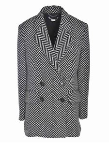 Stella McCartney - Double-breasted herringbone coat