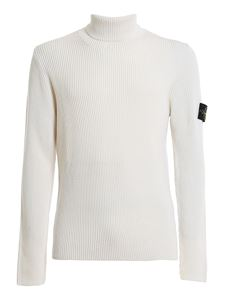 Stone Island - Turtleneck sweater in white