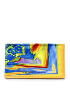 Maria Enrica Nardi - Costarei beach towel in blue and yellow