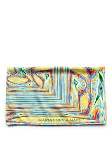Maria Enrica Nardi - Capriccioli beach towel in yellow and light blue