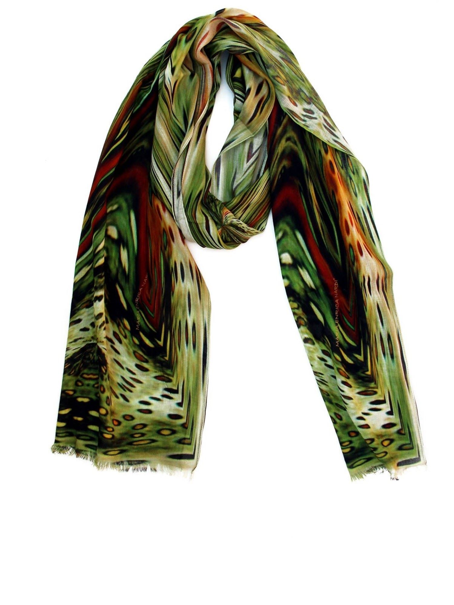 Maria Enrica Nardi JULIETTE STOLE IN SHADES OF GREEN