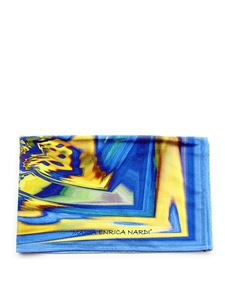 Maria Enrica Nardi - Costarei beach towel in electic blue and yellow