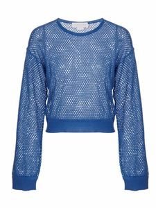 Genny - Circular texture pullover in blue