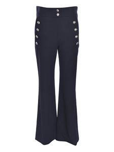 Chloé - Decorative buttons pants in Abyss Blue