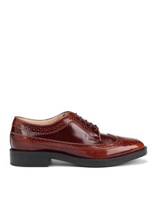 Tod's - Derby brogue in pelle sfumata marroni