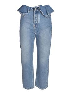 MSGM - Light blue jeans with flounce