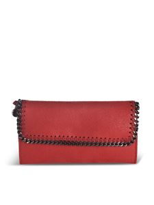 Stella McCartney - Falabella Continental wallet in red