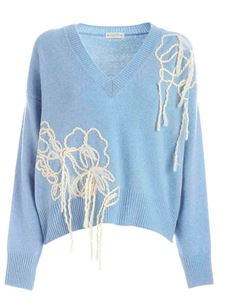 Ballantyne - Embroidery pullover in light blue