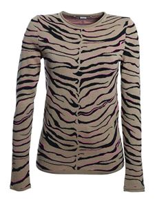 Stella McCartney - Zebra print pullover in beige