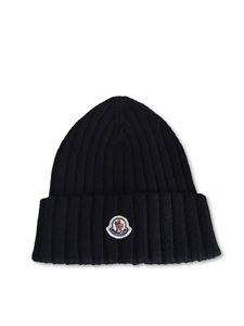 Moncler - Tricot beanie in black
