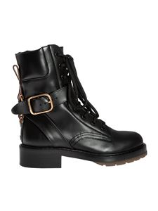 Chloé - Black ankle boots with metal details