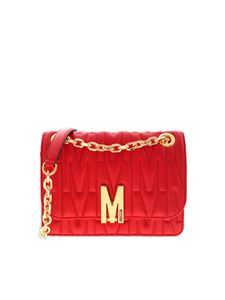 Moschino - M Quilt shoulder bag in red