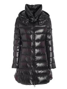 Tatras - Logo patch quilted down jacket in black