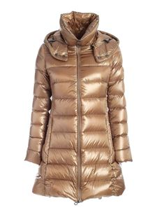 Tatras - Logo patch quilted down jacket in beige