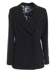 Blumarine - Double-breasted cady jacket in black