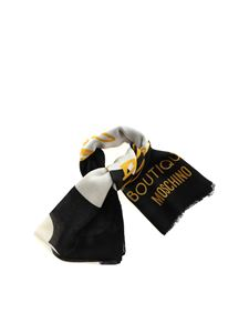 Moschino - Head In The Clouds scarf in black
