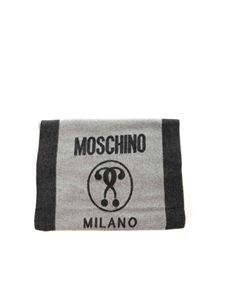 Moschino - Double Question Mark scarf black and grey