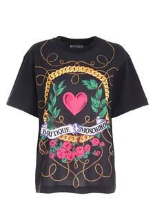 Moschino Boutique - Multicolor print t-shirt in black