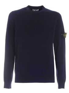 Stone Island - Ribbed shoulders pullover in blue
