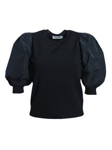 Valentino - Sweater with puffed sleeves in black