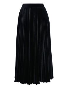 Valentino - Pleated skirt in black velvet