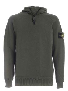 Stone Island - Hooded pullover in green