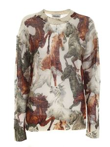Kenzo - Chevaux print pullover in beige