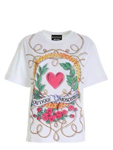 Moschino Boutique - Multicolor print t-shirt in white