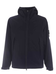 Stone Island - Hooded down jacket in blue