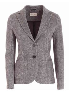 Circolo 1901 - Notch lapels jacket in melange grey