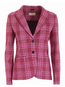 Circolo 1901 - Tartan jacket in shades of pink