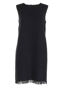 Moschino Boutique - Twill sleeveless dress in black